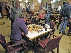 Marco Meijer (links) tegen Johan Hut