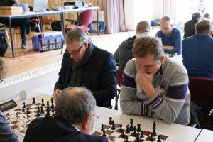 Richard Vedder (rechts) was werd alleen door zijn clubgenoot Dick de Graaf (links) verslagen.