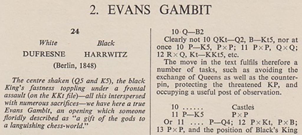 Een pittige thema-avond: het Evans-Gambiet
