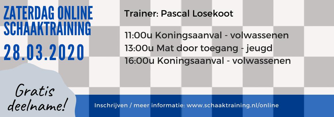 Online schaaktraining door Pascal Losekoot