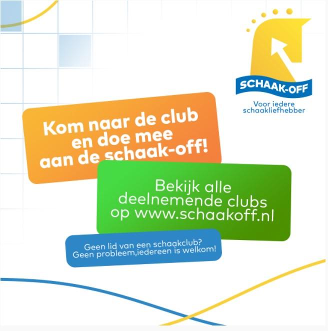 Vrijdag 24 september Schaak-Off